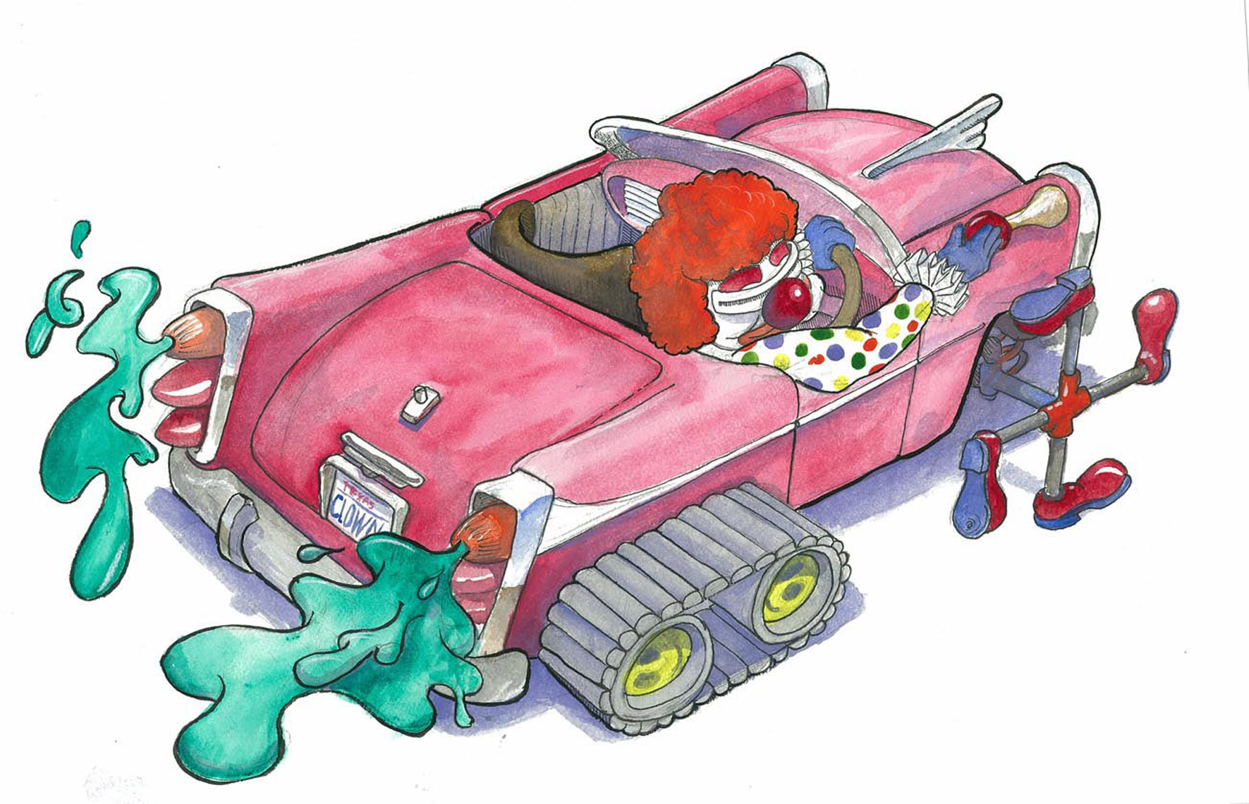 Watercolor_Clowncar