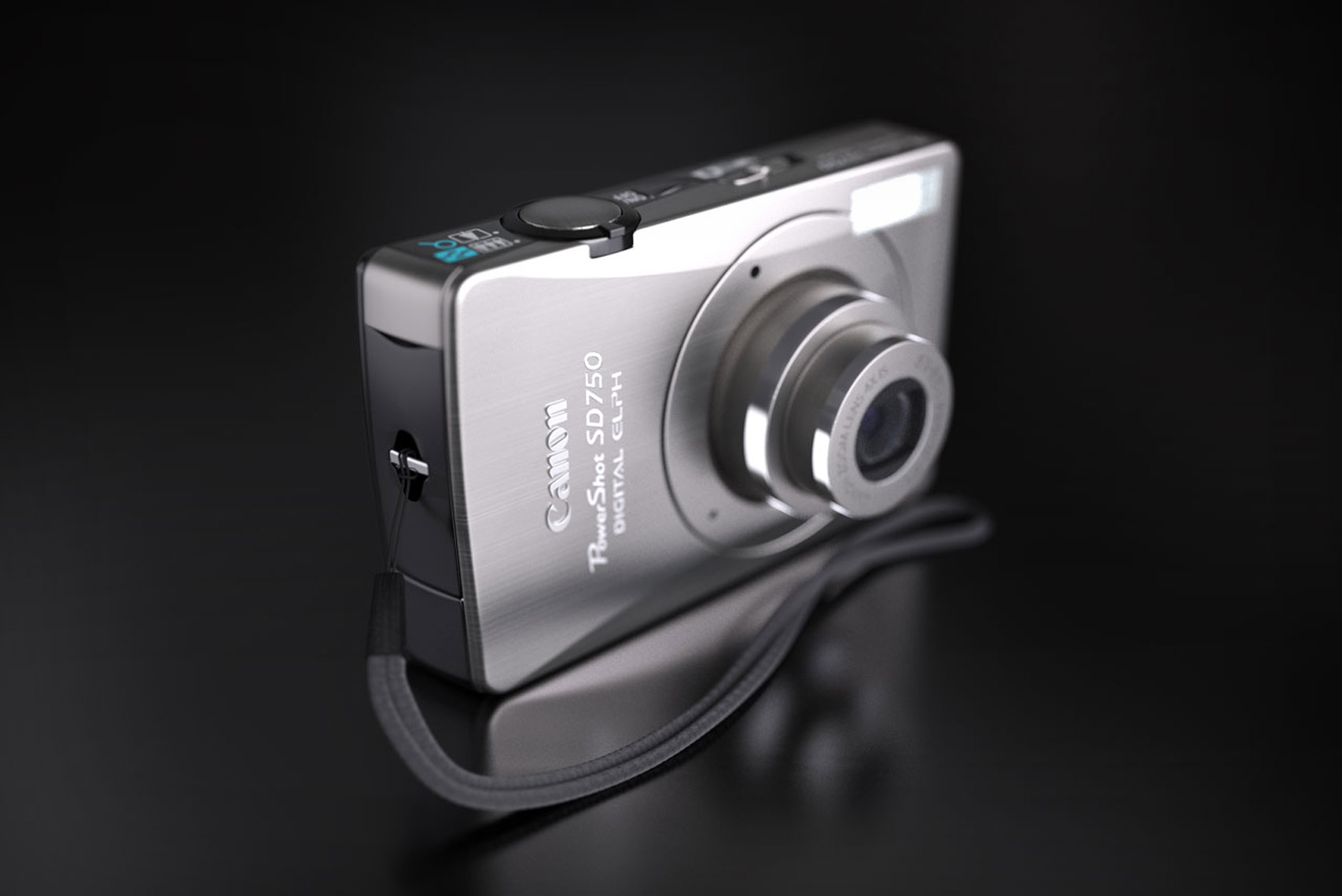 Canon 750 Camera CGI Illustration